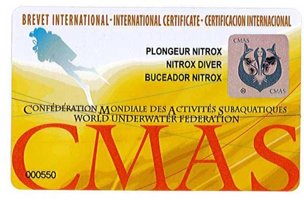 CMAS Basic Nitrox Diver
